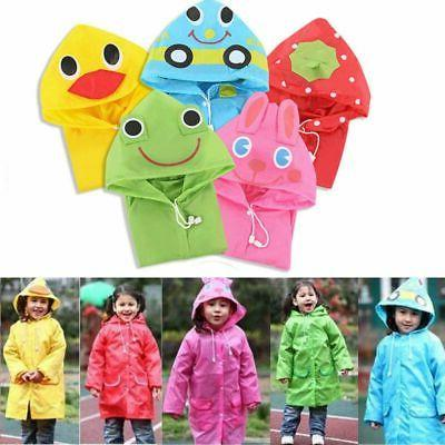 Children Boy Girl Raincoat Rain Coat Suit Poncho Jacket