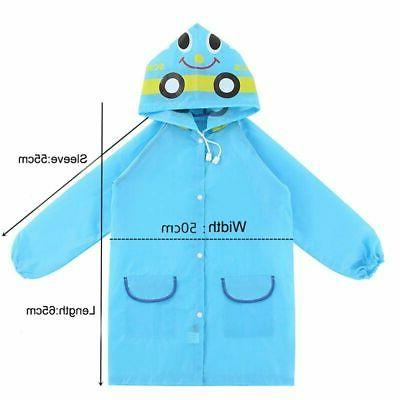 Children Girl Raincoat Rain Suit Jacket