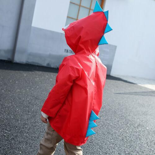 Children Kids Dinosaur Raincoat