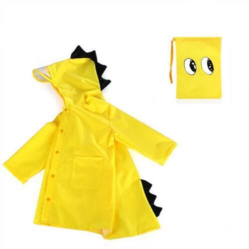 Children Rain Coat Kids Rainwear Dinosaur