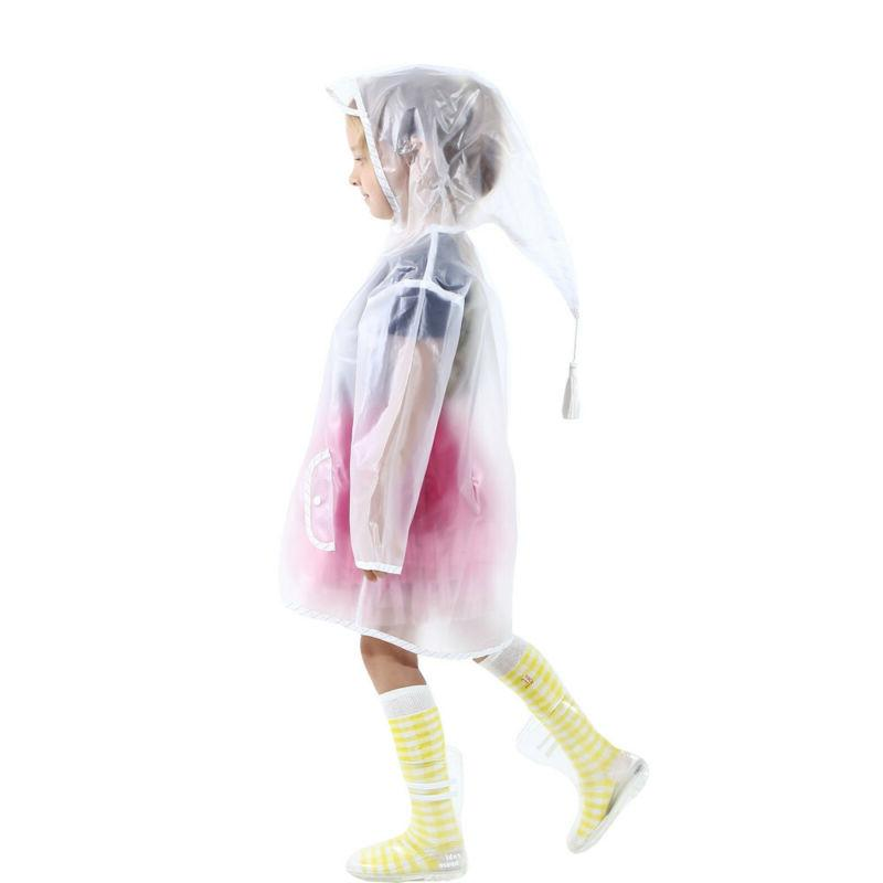 Children Kids Raincoat Jacket Transparent Coat