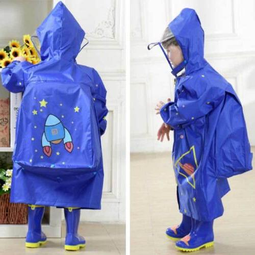 Kids Coat Poncho Raincover