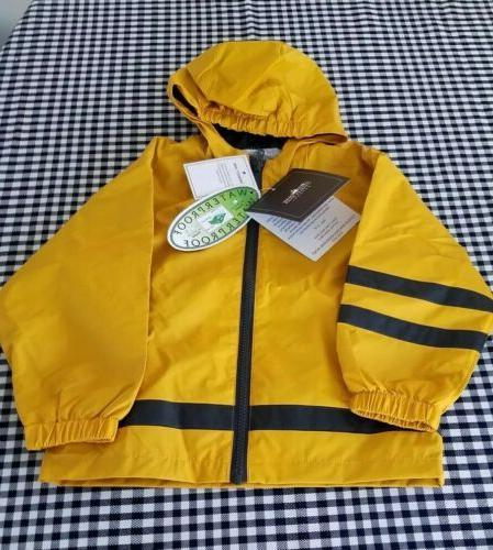 childs rain coat boys new englander yellow