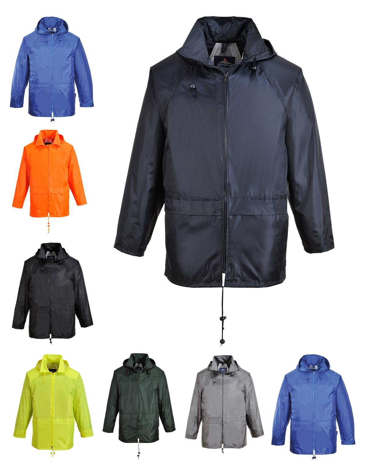 classic rain jacket waterproof hooded thermal zipped