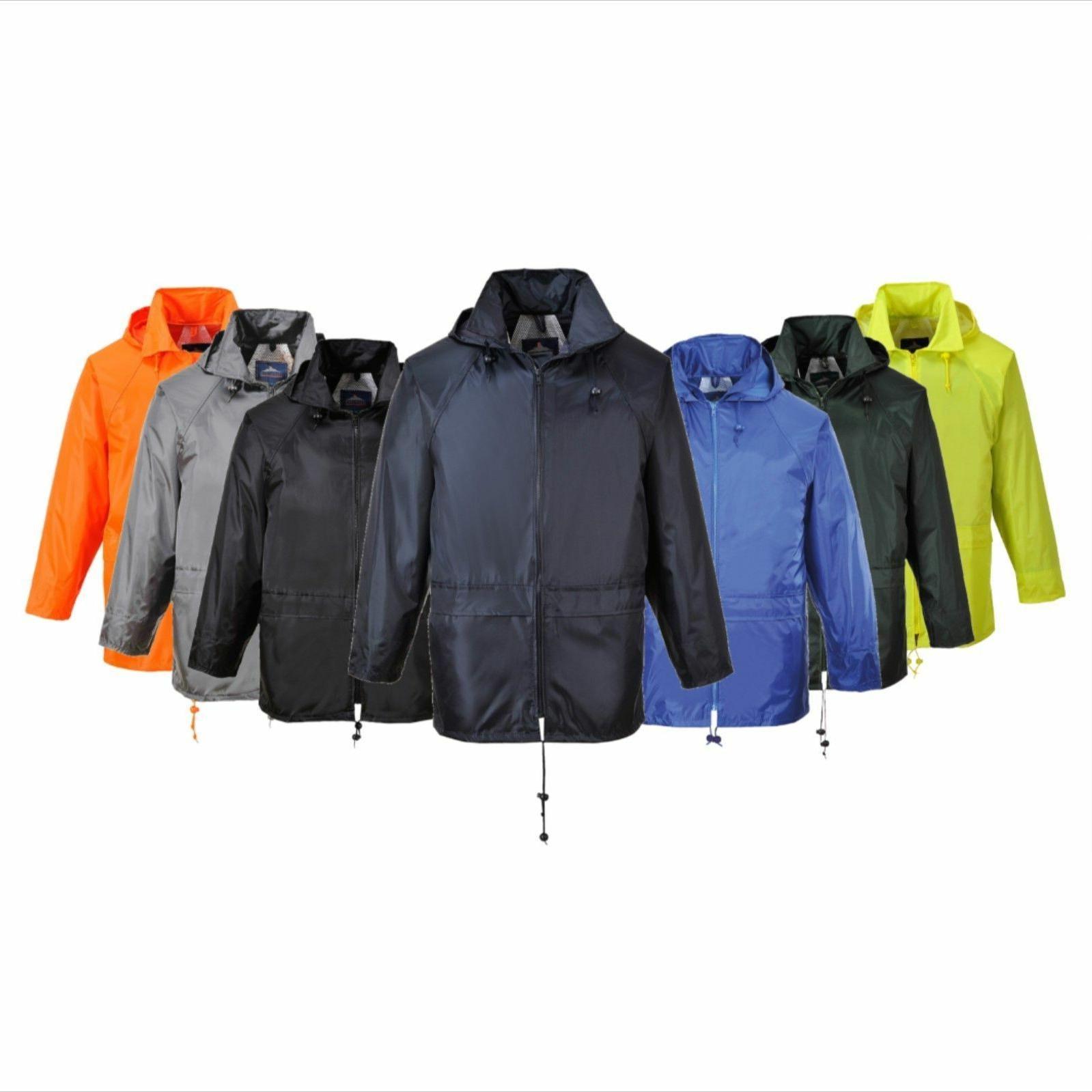 Portwest Rain Jacket Waterproof Hooded Winter Coat S440