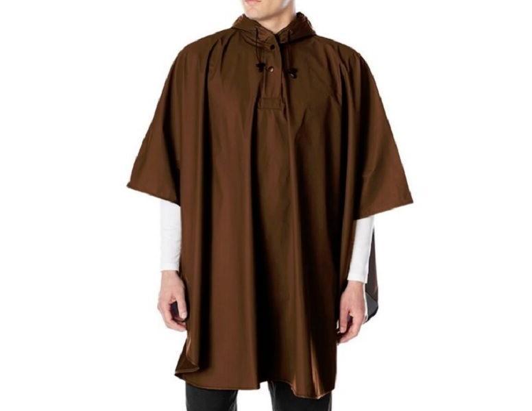 Rain Brown Hood Waterproof Weather Protection