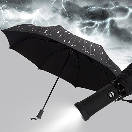compact folding umbrella windproof waterproof