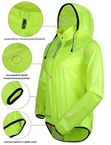 SANTIC Men's Coat Bicycle Jacket Skin Green