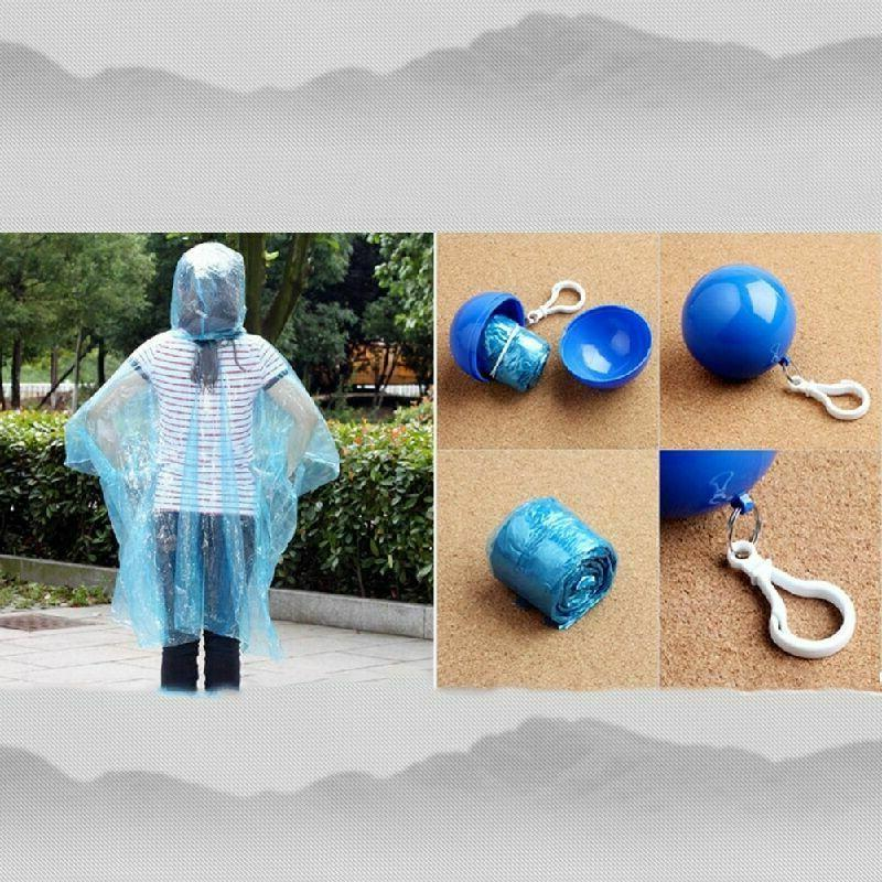 Disposable Emergency Waterproof Ball Rain Poncho