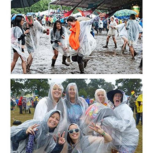 Opret Emergency Transparent Raincoat for Women Men, of 5