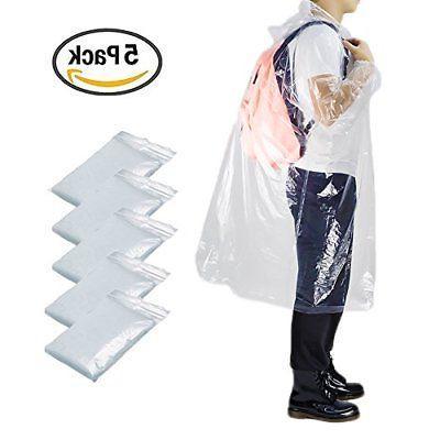 Opret Disposable Rain Poncho Emergency Poncho Transparent Wa