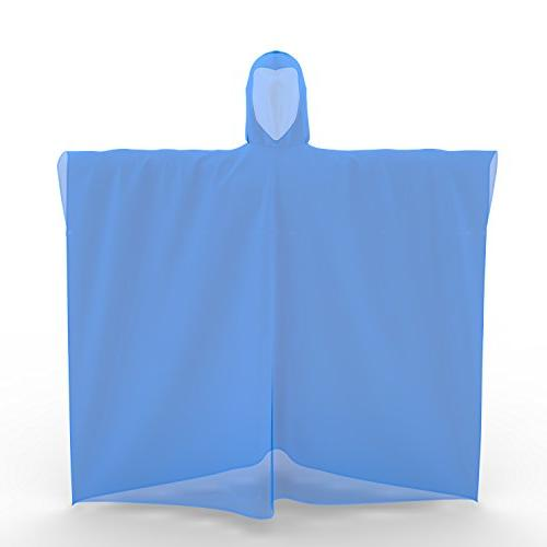 Ponchos Adults Premium Quality 50% Ponchos with Hood for Parks, Camping