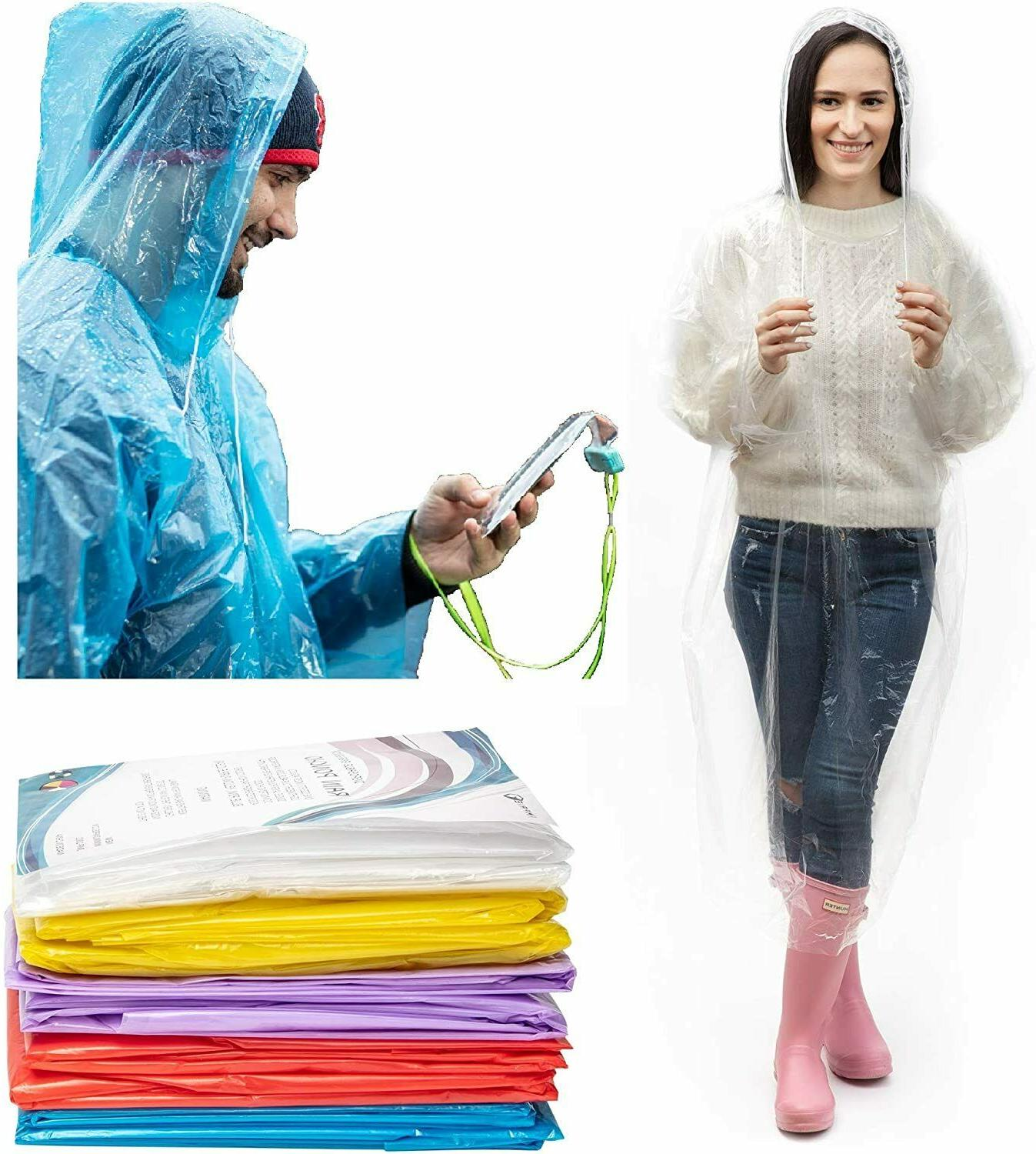 emergency hooded poncho rain coat disposable protection