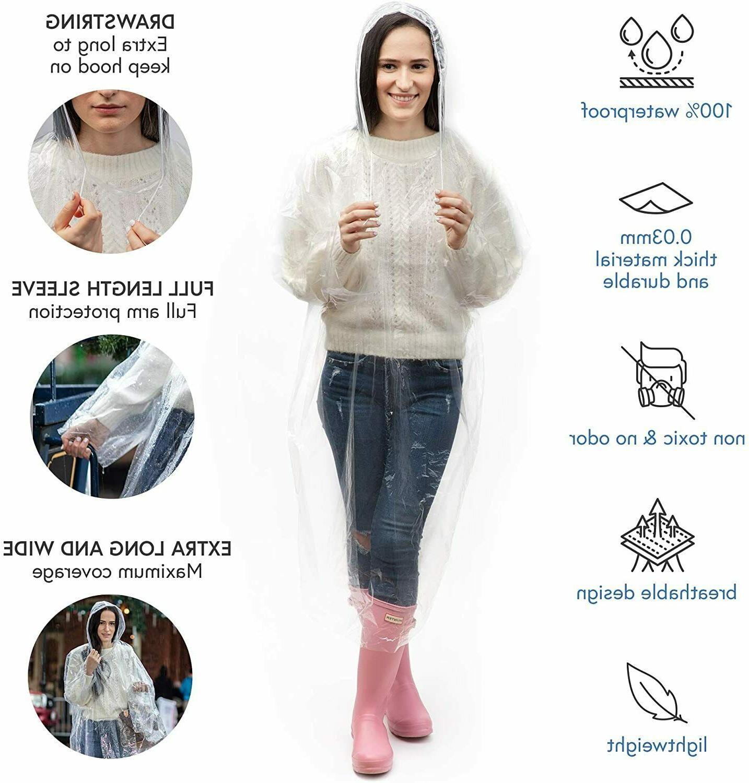 Emergency Poncho Coat Disposable Waterproof wear