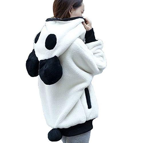 fall winter women cute panda costume fleece