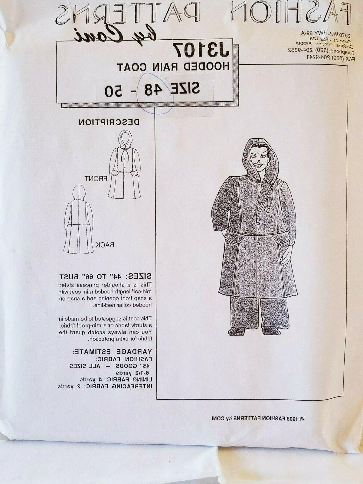 fashion sewing pattern by coni 1998 hooded