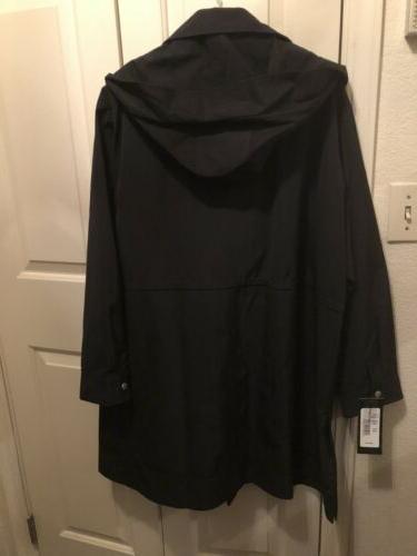 Forecaster Plus Zip Rain Coat Detachable Black 20W