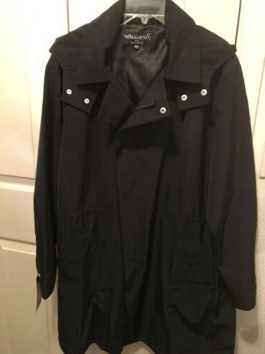 Forecaster Boston Zip Detachable Hood Black 20W $265.