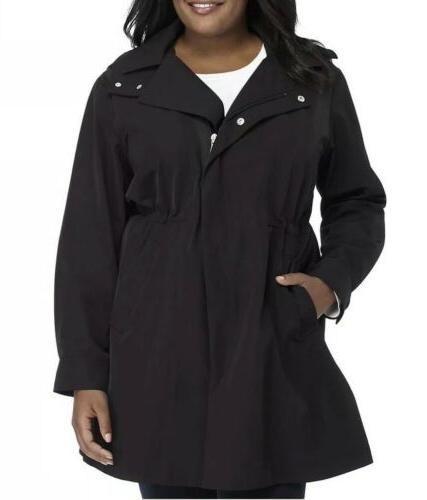 forecaster plus size zip front rain coat