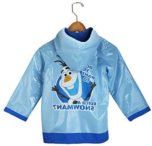 Disney Frozen Little Boys' Olaf Waterproof Outwear Hooded Ra