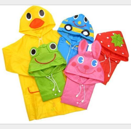 Children Cartoon Rain Coat Kids Rainwear Funny