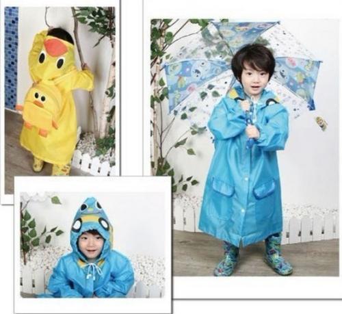 Children Cartoon Kids Rainwear Funny Raincoat