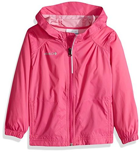 Columbia Toddler Girls' Switchback Rain Jacket, Pink Ice, 3T
