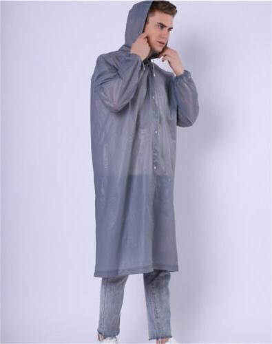 Gray Rain Coat Hooded Jacket Rainwear