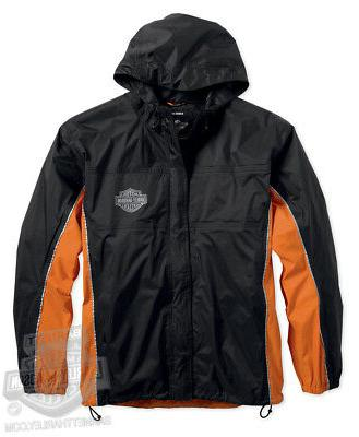 Harley-Davidson Mens B&S Black Rain Suit 98285-14VM