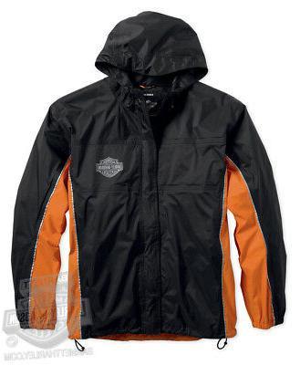 Harley-Davidson Mens Waterproof Black Rain Suit B&S