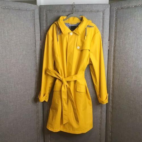 hooded trench rain coat 3x nwt 209