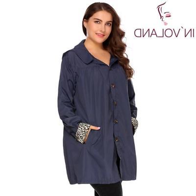 IN'VOLAND Women Rain Jacket Spring Hoode