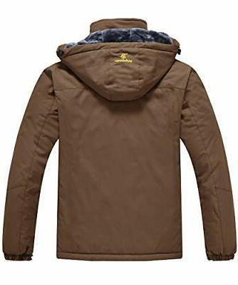 JINSHI Mens Mountain Fleece Ski Windproof Rain Jacket