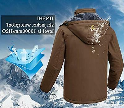 JINSHI Mens Mountain Fleece Jacket Windproof Rain