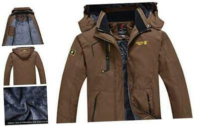 jinshi mens mountain waterproof fleece ski jacket