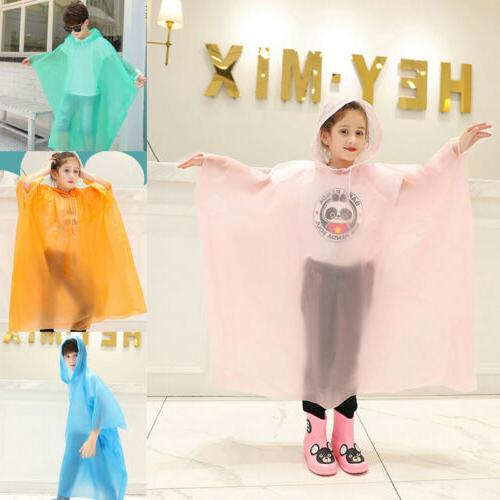 Kid Waterproof Hooded Cute Rain Coat
