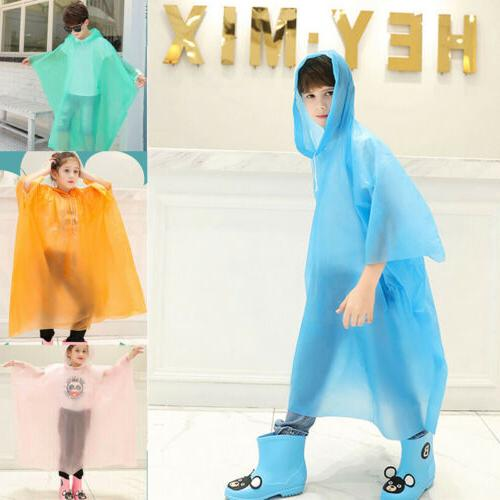 Kid Waterproof Hooded Cute Coat Poncho