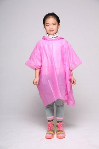 Kid Jacket PE Coat Poncho Children Rainwear