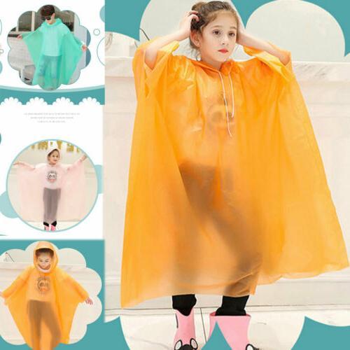 kid waterproof jacket pe hooded raincoat cute