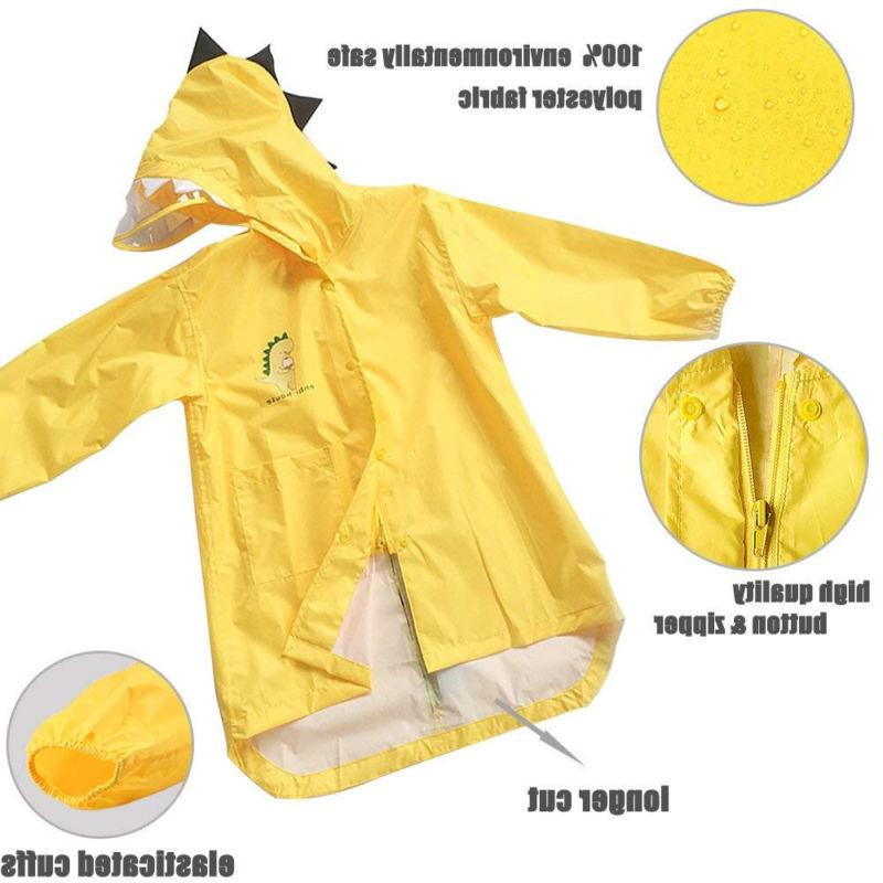 Kids Girl Raincoat Rain Jacket Rainwear