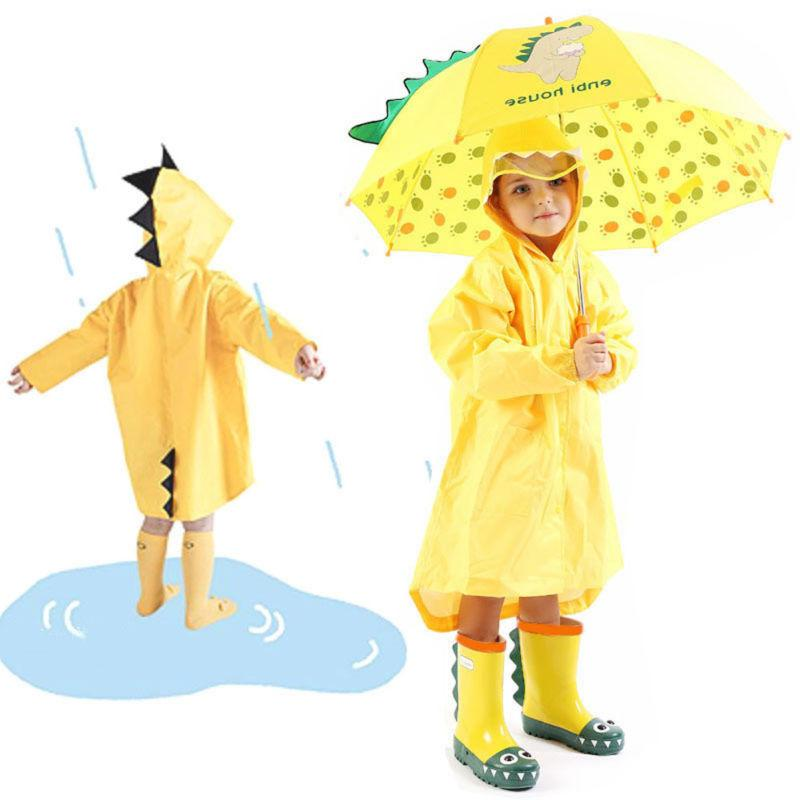Kids Boy Raincoat Rain Rainwear Coat