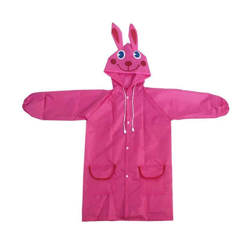 Kids Rain Coat Waterproof Raincoat Protective US