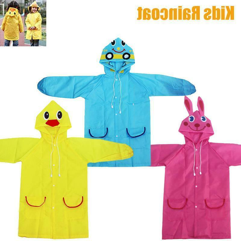 Kids Boys Coat Poncho Emergency Raincoat US