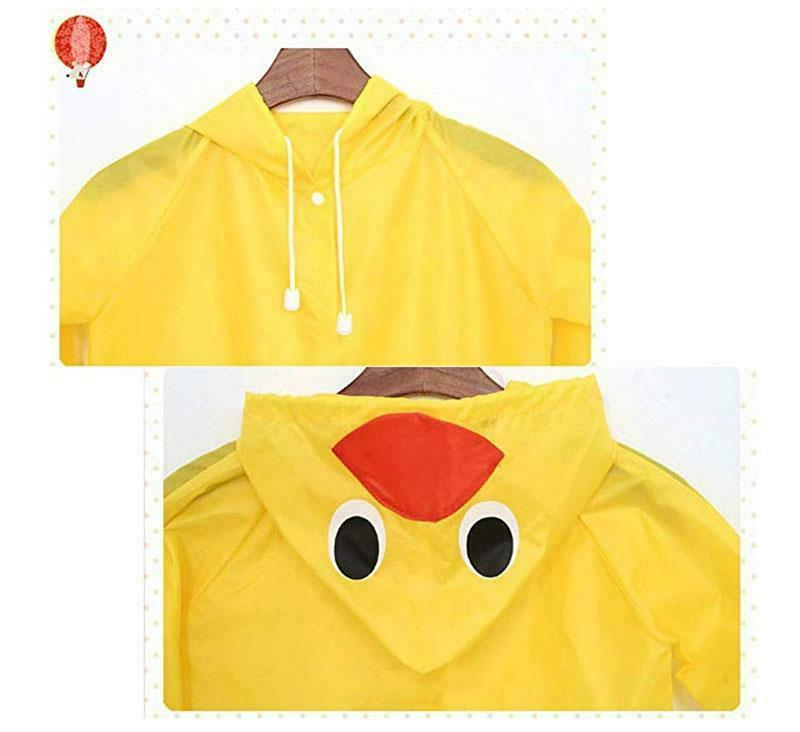 Kids Boys Girls Rain Coat Poncho Waterproof Raincoat