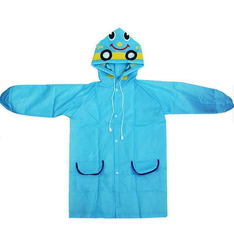 kids boys girls rain coat poncho waterproof