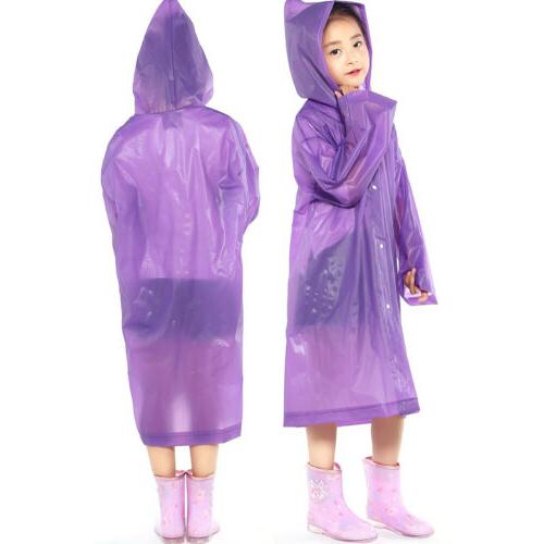 Kids Rainwear Waterproof Raincoat Rain Hooded Rain
