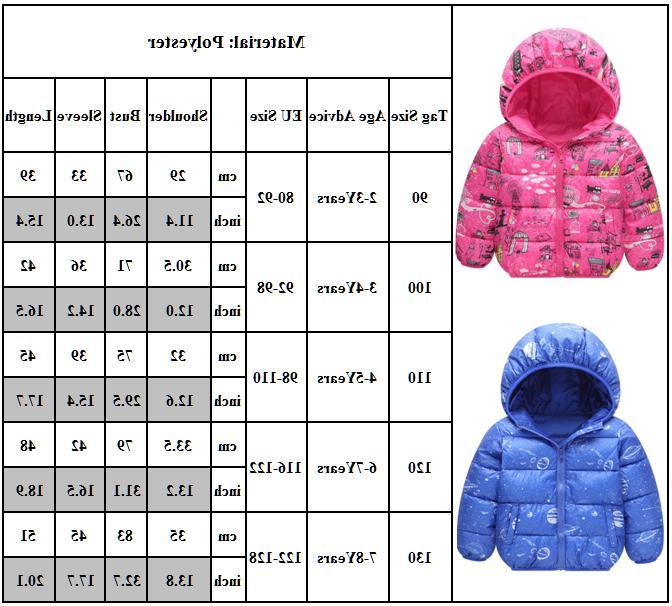 Kids Coat Cartoon Hooded Zip Jacket