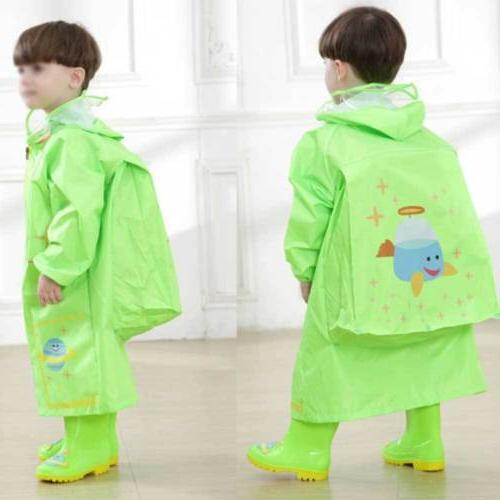 Kids Hooded Raincoat Waterproof