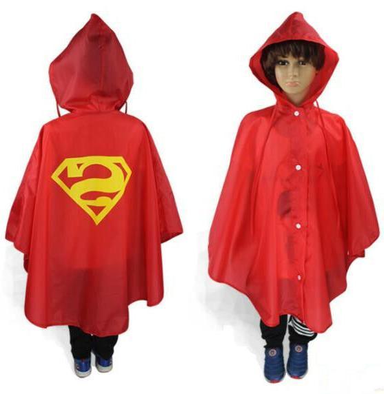 Kids Costume Poncho Rainsuit