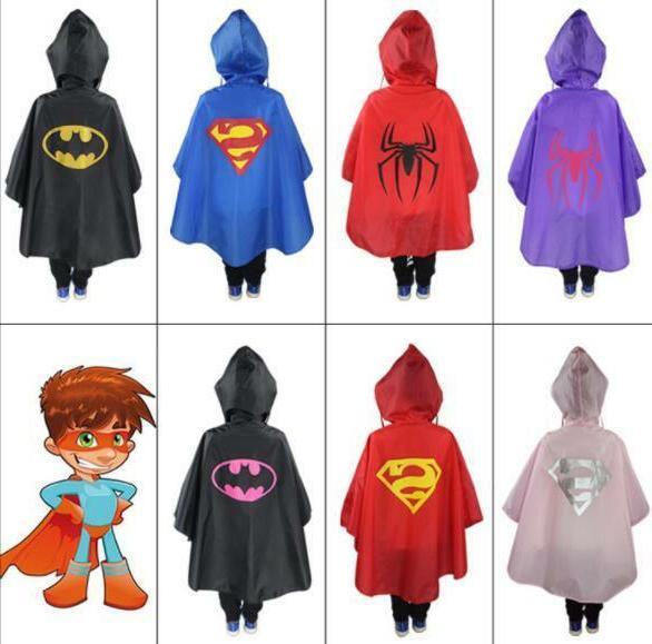kids rain coat halloween costume cloak poncho